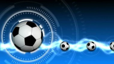 Soccer Ball Sport Background 09 (HD) — Stock Video