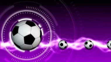 Soccer Ball Sport Background 11 (HD) — Stock Video