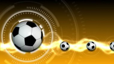 Soccer Ball Sport Background 12 (HD) — Stock Video