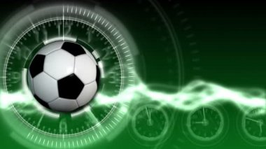 Soccer Ball Sport Background 13 (HD) — Stock Video