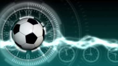 Soccer Ball Sport Background 14 (HD) — Stock Video