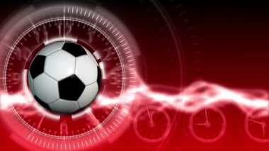 Soccer Ball Sport Background 16 (HD) — Stock Video
