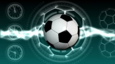 Soccer Ball Sport Background 20 (HD) — Stock Video