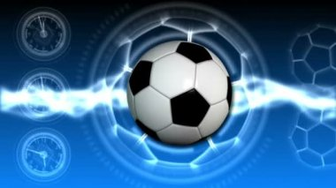 Soccer Ball Sport Background 21 (HD) — Stock Video