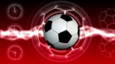 Soccer Ball Sport Background 22 (HD) — Stock Video