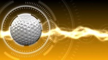 Golf Ball Background 09 (HD) — Stock Video