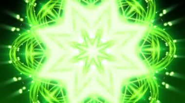 Green Floral Ornament - Abstract Background 82 (HD) — Stock Video