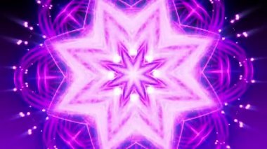 Purple Glowing Ornament - Abstract Background 83 (HD) — Stok video