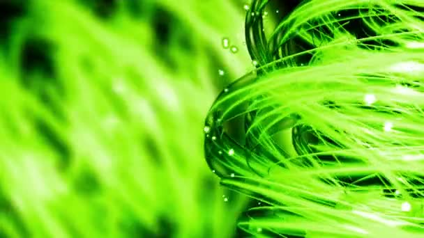 Green Nature Light Streaks - Abstract Background 77 (HD) — Vídeo de stock