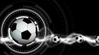 Soccer Ball Sport Background 27 (HD) — Vidéo