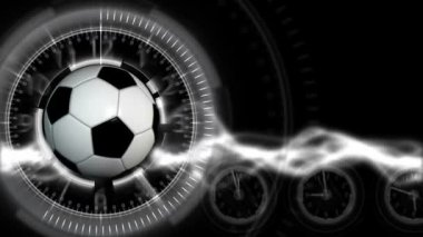 Soccer Ball Sport Background 28 (HD) — Стоковое видео