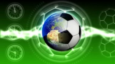 Soccer World Background 37 (HD) — 图库视频影像
