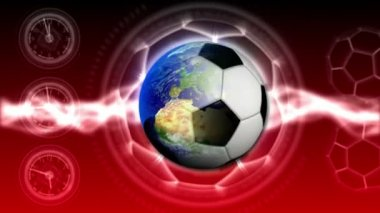 Soccer World Background 40 (HD) — Vídeo de Stock