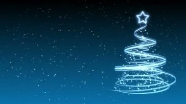 Christmas Tree Background - Merry Christmas 32 (HD) — Video Stock