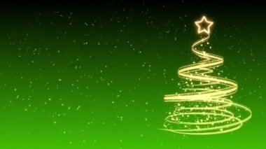 Christmas Tree Background - Merry Christmas 31 (HD) — Stock Video