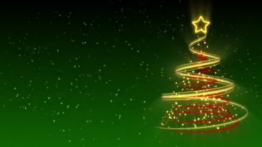 Christmas Tree Background - Merry Christmas 24 (HD) — Stock Video