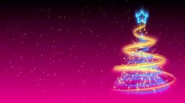 圣诞树背景-圣诞 19 (高清) — 图库视频影像