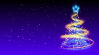 Christmas Tree Background - Merry Christmas 18 (HD) — Stock Video