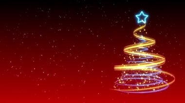 Christmas Tree Background - Merry Christmas 14 (HD) — Video Stock