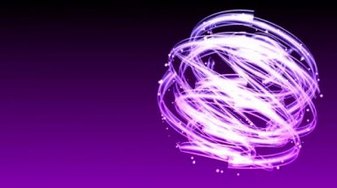 Light Streaks Circle - Abstract Background 69 (HD) — Wideo stockowe