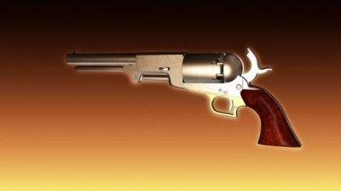 Old Revolver Shooting - Revolver 04 (HD) — Stock Video