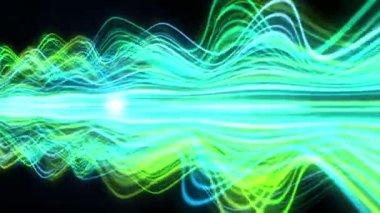 Light Streaks Background - Fractal Background 07 (HD) — Stock Video