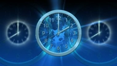 Passing Time Background - Clock 64 (HD) — Video Stock