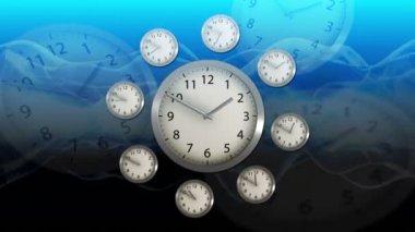 Time Flies - Clock 55 (HD) — Stockvideo