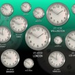 Time Zones - Clock 54 (HD) - Stock Photo