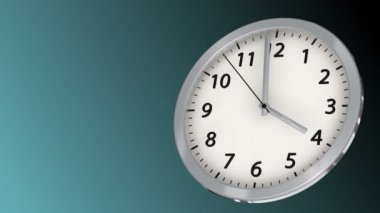 10 seconds to 4 - Clock 45 (HD) — Stock Video