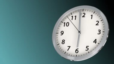 10 seconds to 6 - Clock 43 (HD) — Stock Video
