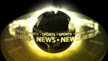 SPORTS NEWS Earth - Earth 73 (HD) — Stock Video