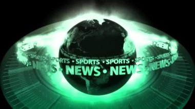 SPORTS NEWS Earth - Earth 72 (HD) — Stock Video