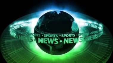 SPORTS NEWS Earth - Earth 70 (HD) — Stock Video
