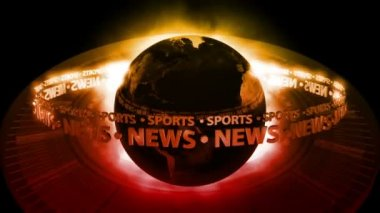 SPORTS NEWS Earth - Earth 59 (HD) — Stock Video