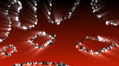 Gráficos de movimento de espirais de diamante — Vídeo Stock