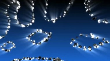Diamond Spirals Motion Graphics — Stock Video
