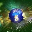 Earth with Golden Dollar Symbols — Stock Video #25353795