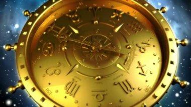 Golden Zodiac Gadget — Stock Video