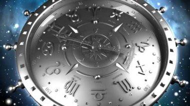 Silver Zodiac Gadget — Stock Video
