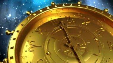 Golden Zodiac Machine — Stock Video