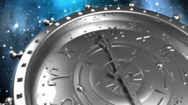 Silver Zodiac Machine — Stock Video