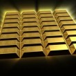 Stock Video: Growing Gold Bricks Pyramid
