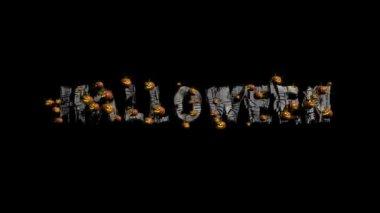Halloween Title with Pumpkins — Stock Video