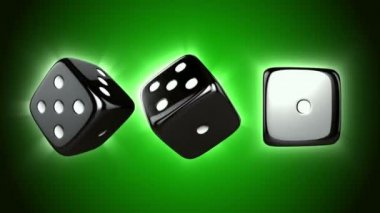 Casino Dices Spinning — Wideo stockowe