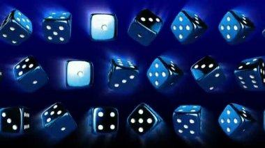 Flowing Casino Dices — Stock Video