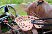 An old scottish tractor — Stock Photo
