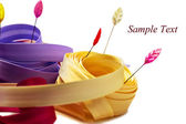 Background colored ribbons — Stock Photo
