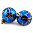 Two blue Christmas toys — Stock Photo