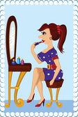 Make up at home — Stock Vector